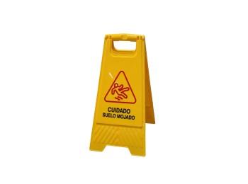 Cartel seÑalizacion 61x30cm peligro suelo mojado ama nivel