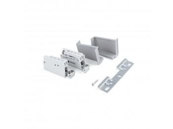 Colgador para módulos altos Hook de cocina, carga 70 Kg, Acero y plástico, Gris, 5 un.