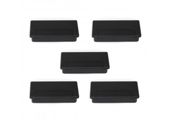 Emuca Pasacables Plasquare 1 para mesa, Plástico, Negro, 5 ud