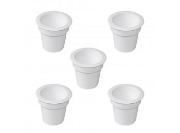 Emuca Accesorio Pot, Plástico, Blanco, 5 un