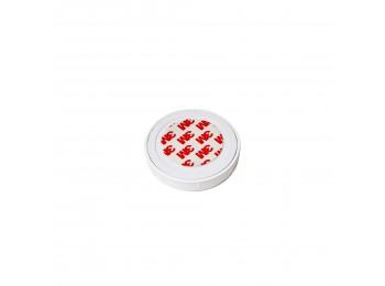 Emuca Cargador inalámbrico oculto para móviles Airless, D. 75 mm, Plástico blanco
