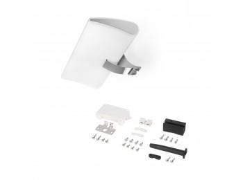 Emuca Foco LED para espejo de baño Aries, IP44, 300 mm, Plástico, Cromado