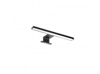 Emuca Foco LED para espejo de baño Virgo, IP44, 300 mm, Plástico, Pintado negro