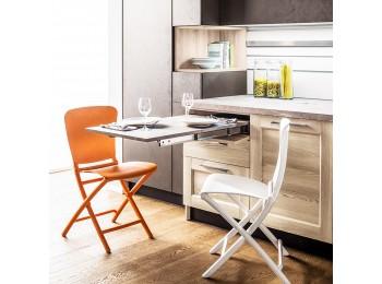 Emuca Guías para mesa extensible Lunch para cocina o hogar, Aluminio, Anodizado inox