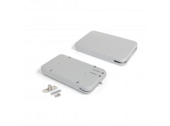 Emuca Mecanismo para puertas abatibles Miniwinch con tapa,  4 kg, Acero y plástico, Gris