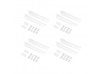 Emuca Placas de fijación a pared y soportes para estante Jagmet, 280, Pintado blanco, Acero