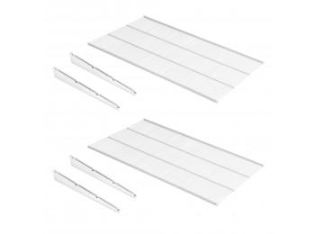 Emuca Estantes de alambre y soportes Jagmet, Pintado blanco, Acero