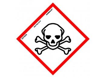 SeÑal 150x150mm pvc producto quÍmico toxicidad aguda rd47054